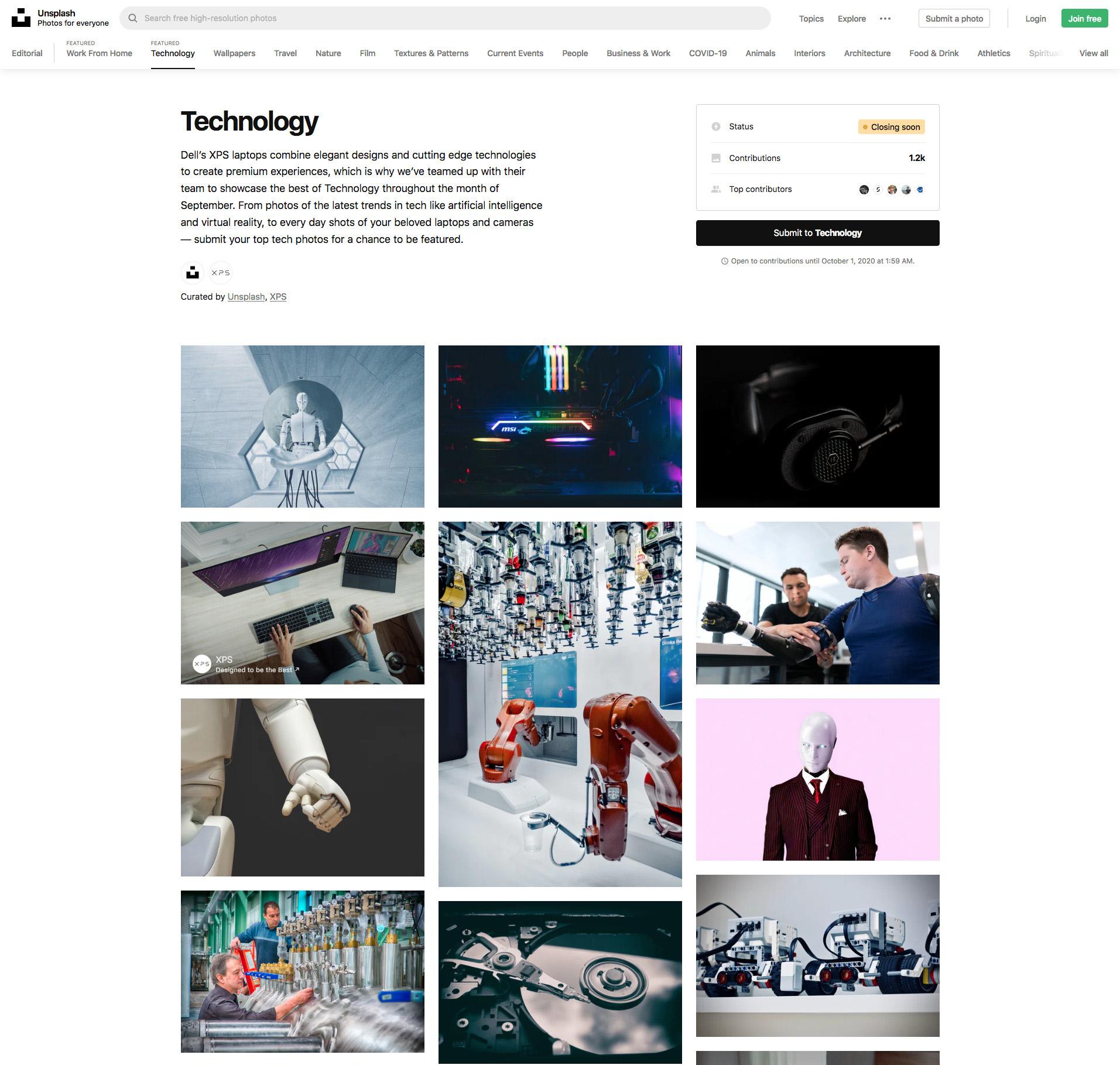 Unsplash, fotografías gratis para tu web