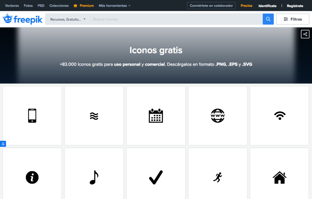 Freepik iconos gratuitos para tu página web