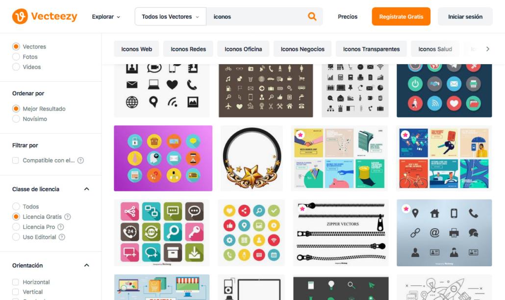 Vecteezy iconos gratis para tu página web